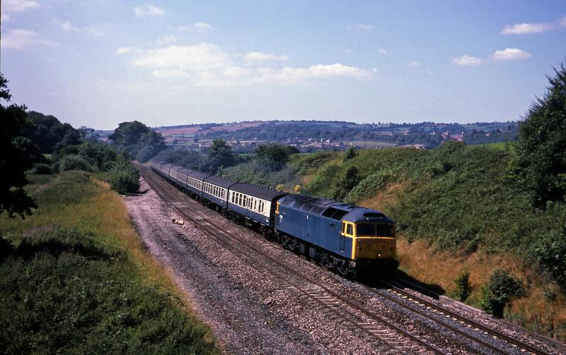 47626, 09.28 Penzance-Leeds, Whiteball, 15-8-87.