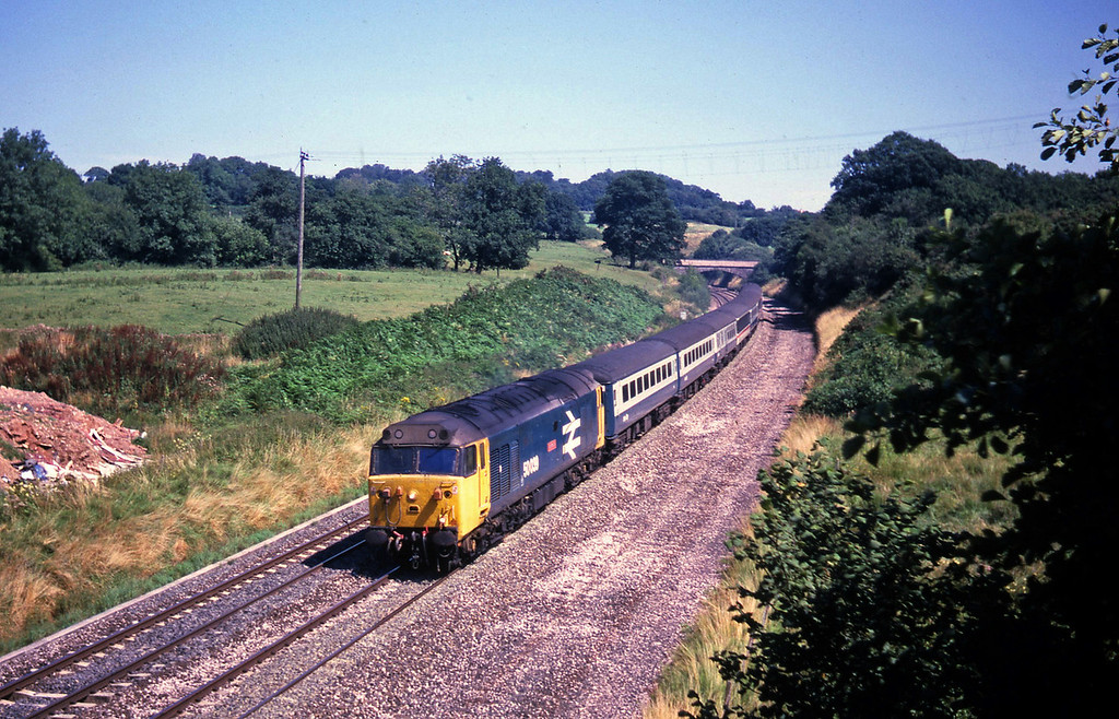 50039, 11.10 London Paddington-Newquay, Whiteball, 15-8-87.