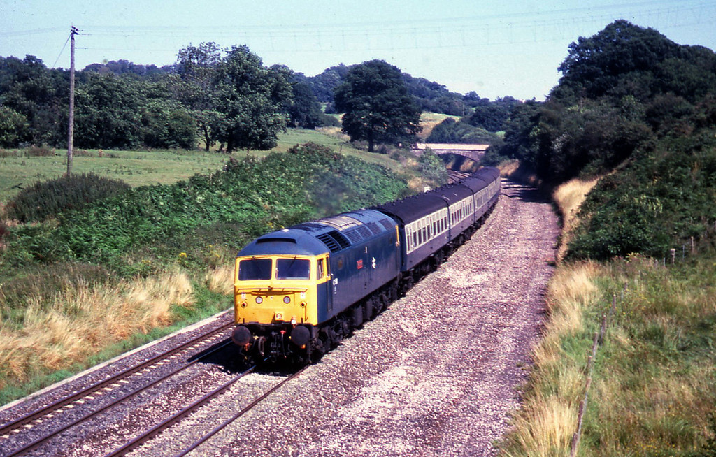 47558, 12.40 London Paddington-Penzance, Whiteball, 15-8-87.