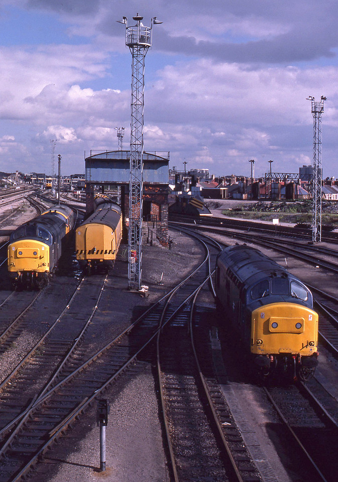 37280/37257/37199/50029, stabled, Cardiff Canton, 22-9-87.