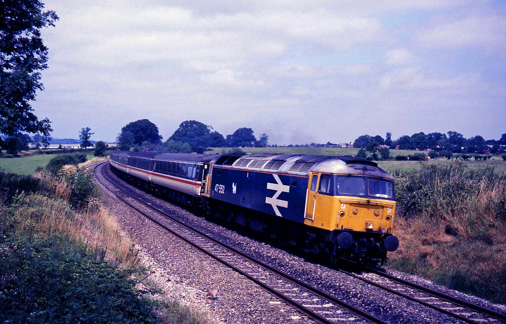 47552, 09.13 Manchester Piccadilly, Plymouth, Willand, near Tiverton, 19-7-88.
