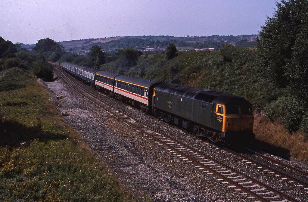 47500, 12.30 Plymouth-London Paddington, Whiteball, 23-8-89.