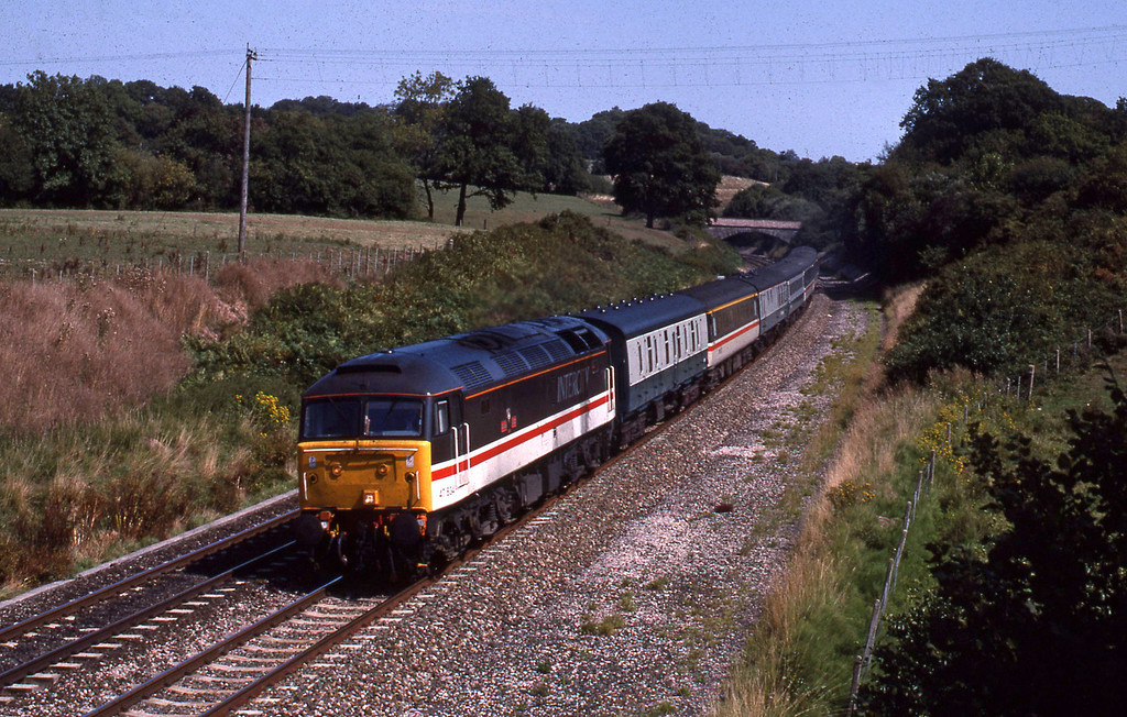 47834, 09.18 Manchester Piccadilly-Plymouth, Whiteball, 23-8-89.