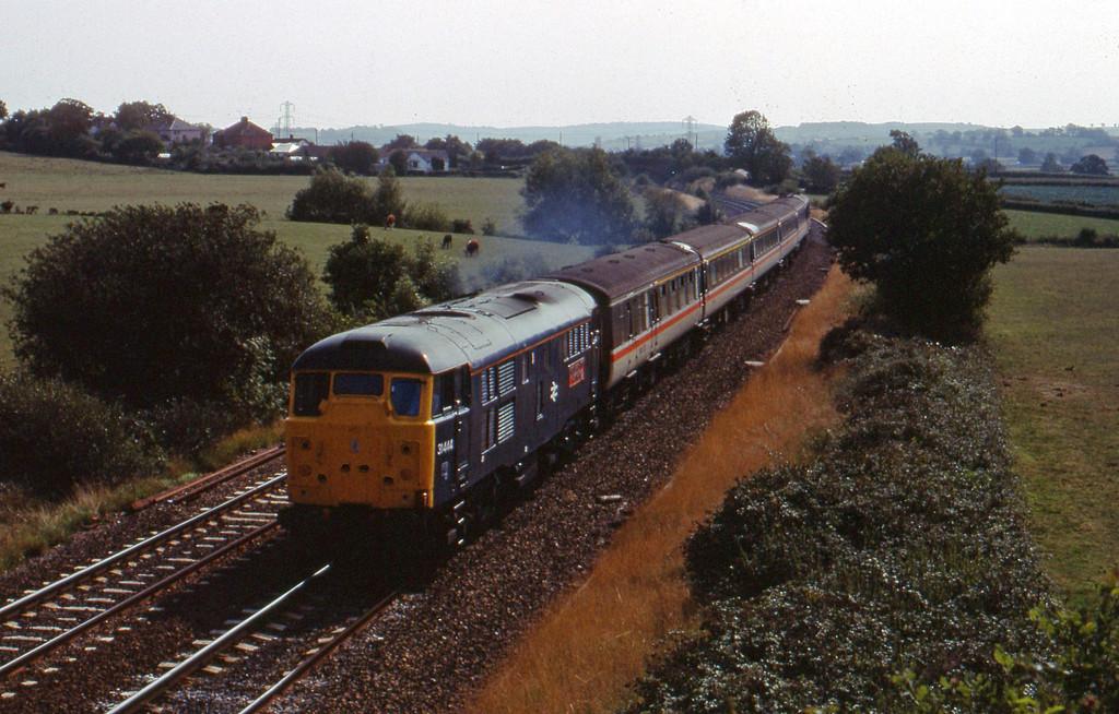 31444, up ecs, Willand, near Tiverton, 24-8--89.