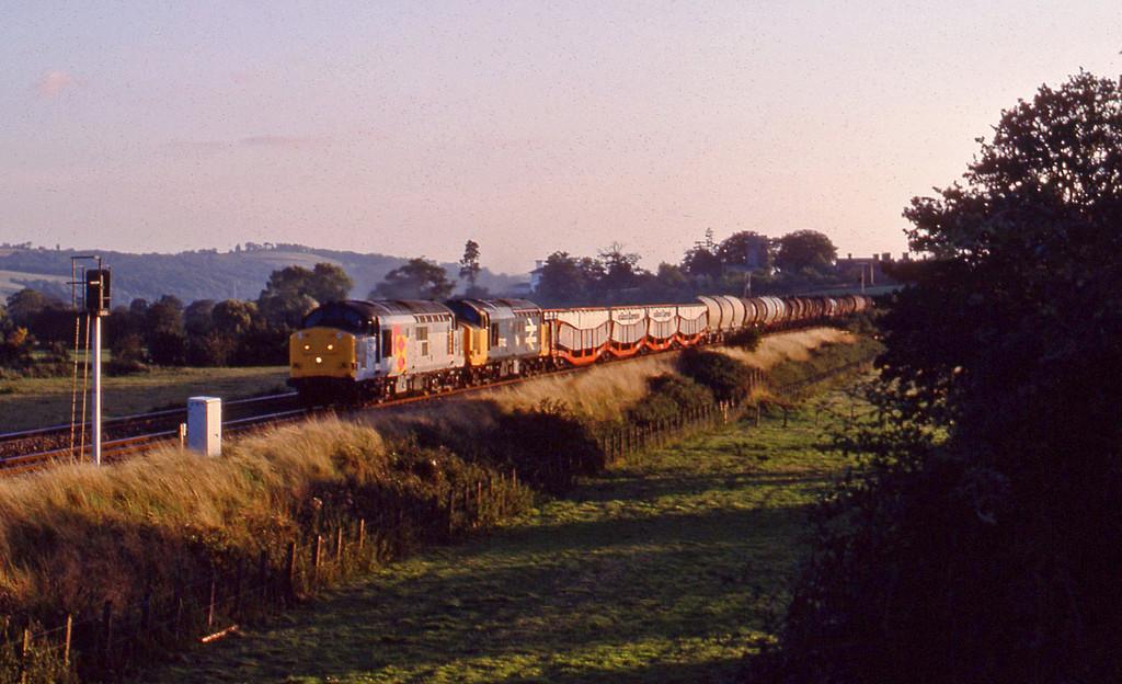 37673/37412, up Speedlink, Rewe, near Exeter, 22-8-89.