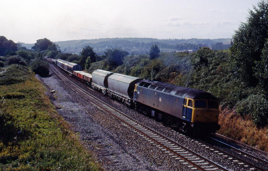 47226, Plymouth Tavistock Junction-Gloucester, Whiteball, 23-8-89.