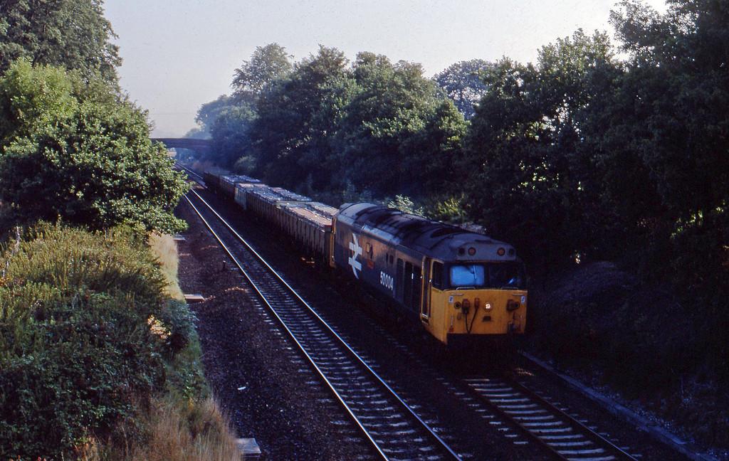 50004, 10.25 Tiverton Loop-Exeter Riverside Yard, Willand, near Tiverton, 23-8-89.