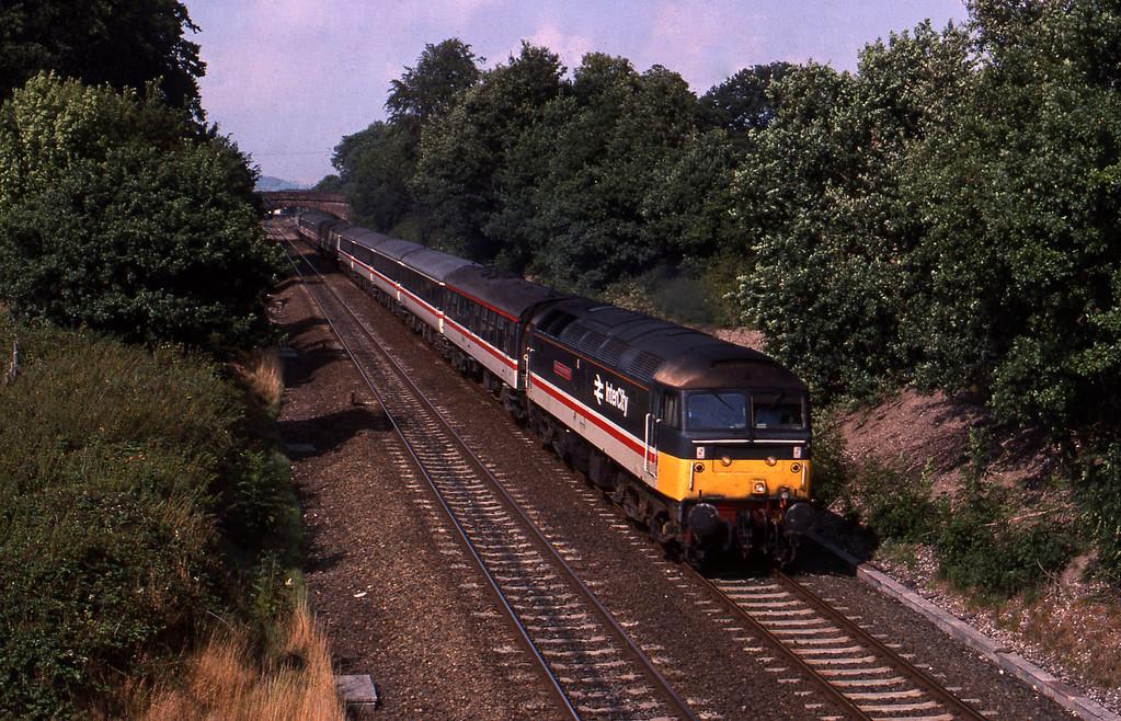 47555, down passenger, Willand, near Tiverton, 8-8-89.