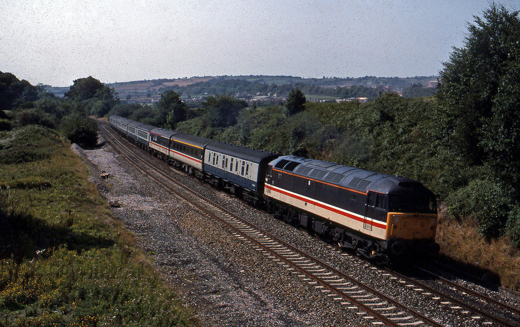 47818, 12.00 Plymouth Manchester Piccadilly, Whiteball, 23-8-89.