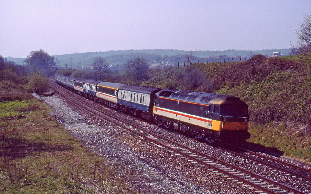 47826, up passenger, Whiteball, 25-4-90.
