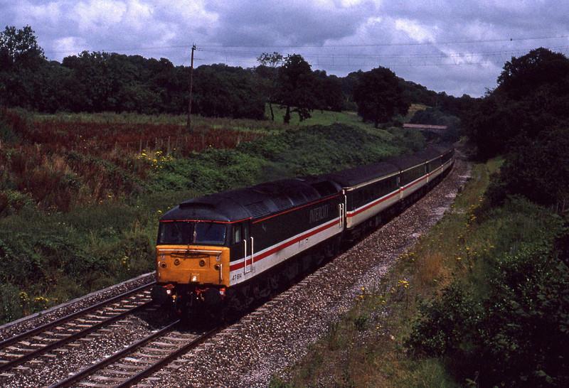 47814, down passenger, Whiteball, 30-7-91.