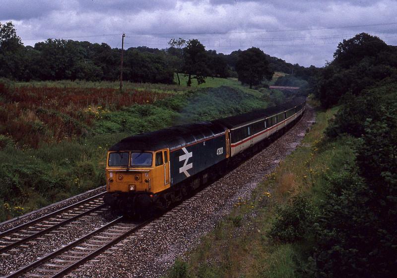 47820, down passenger, Whiteball, 30-7-91.