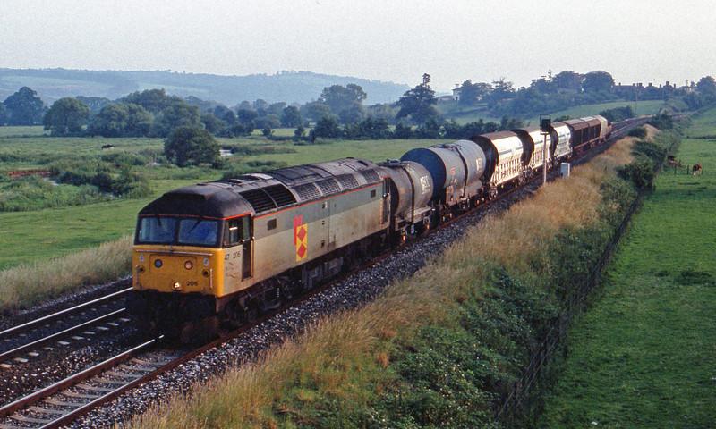 47206, penultimate up Speedlink, Rewe, near Exeter, 4-7-91.