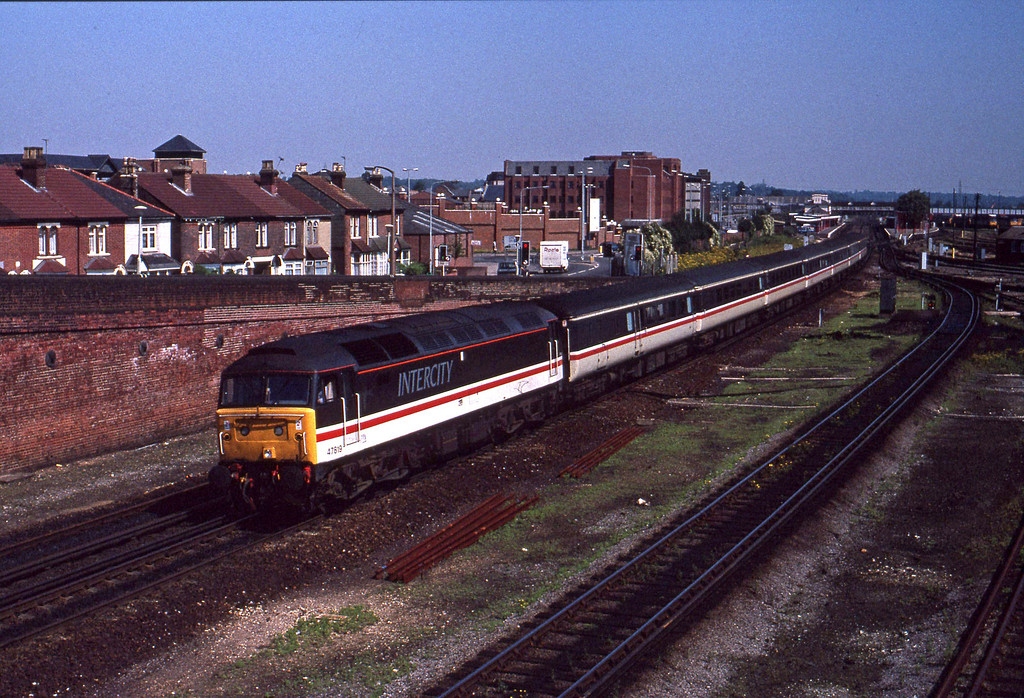47819, down passenger, Eastleigh, 29-7-91.