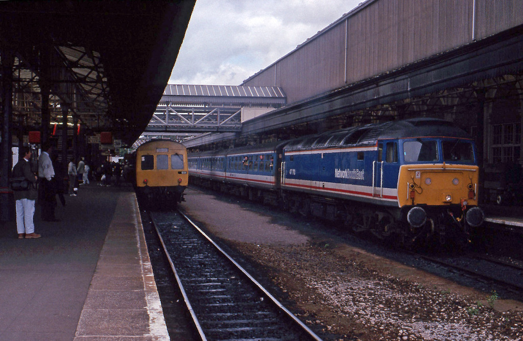 47710, 16.22 Exeter St David's-London Waterloo, Exeter St David's, 15-6-91.
