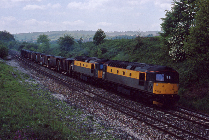 33057/33026, up ballast, Whiteball, 21-5-91.