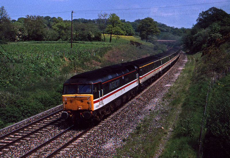 47835, down passenger, Whiteball, 21-5-91.