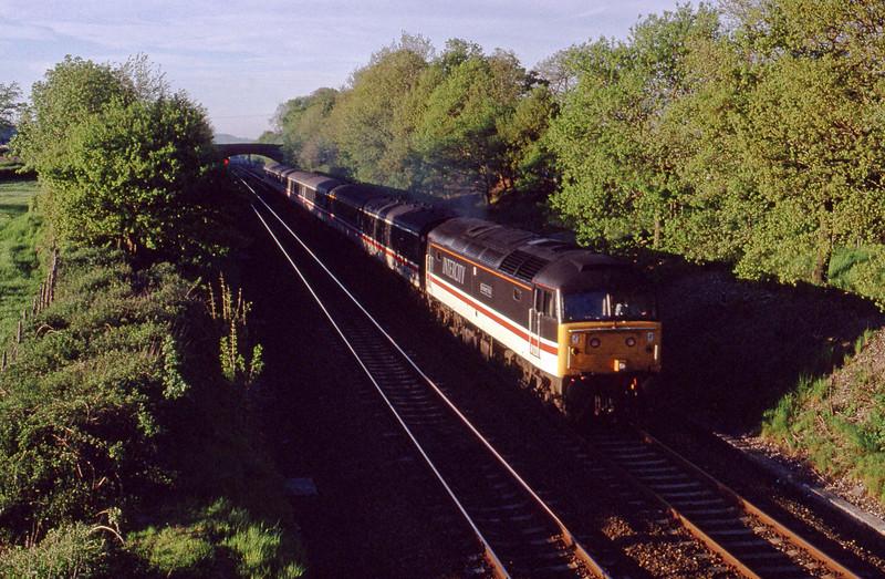 47809, down passenger, Willand, near Tiverton, 21-5-91.