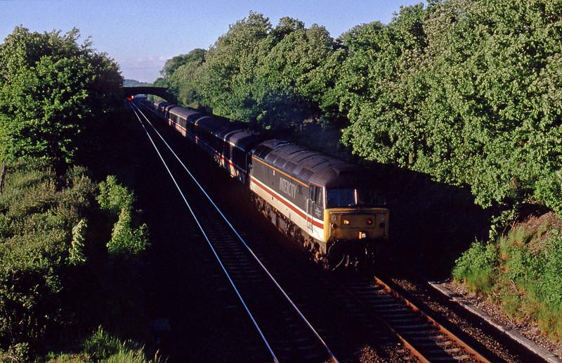 47833, down passenger, Willand, near Tiverton, 21-5-91.