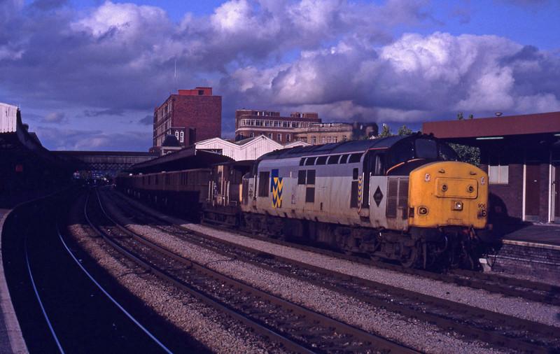 37906, down coal empties, Newport, 26-8-92.