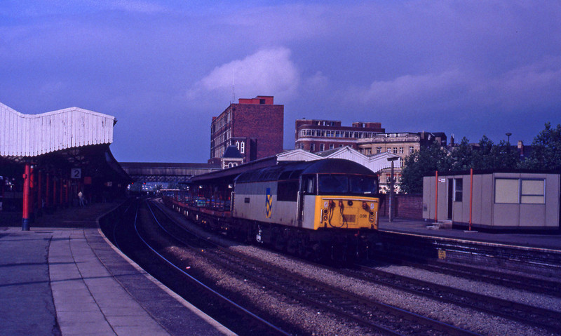 56038, down steel empties, Newport, 14-7-92.