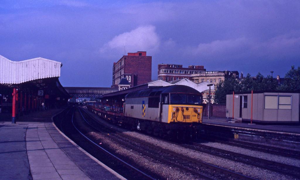 56038, down steel empties, Newport, 14-7-92.