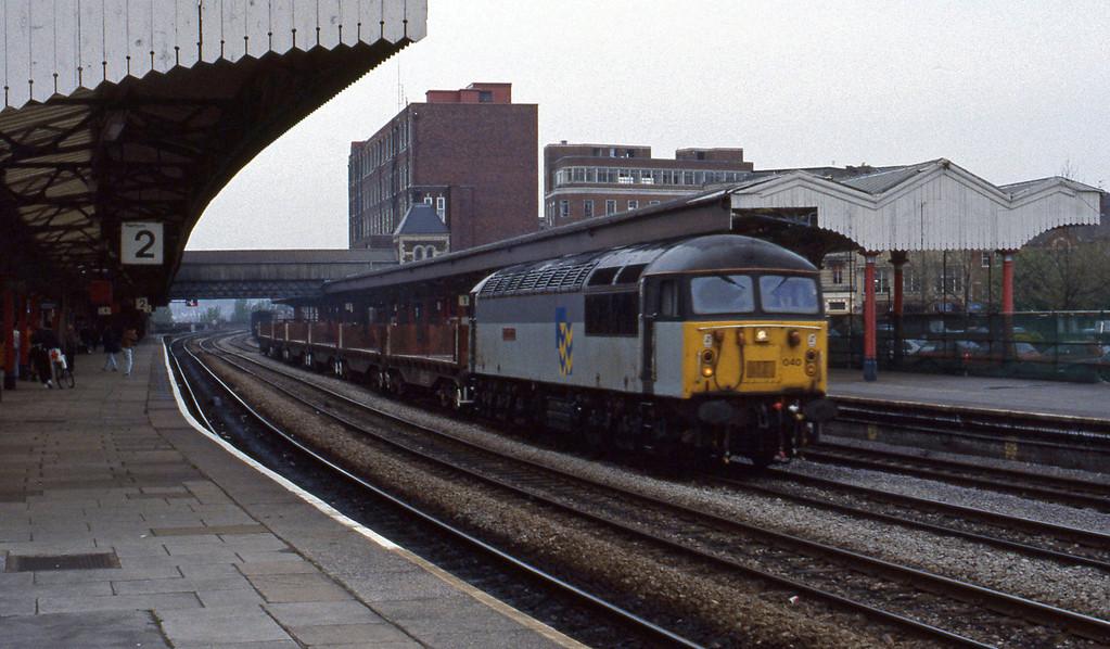 56040, down steel empties, Newport, 27-4-93.