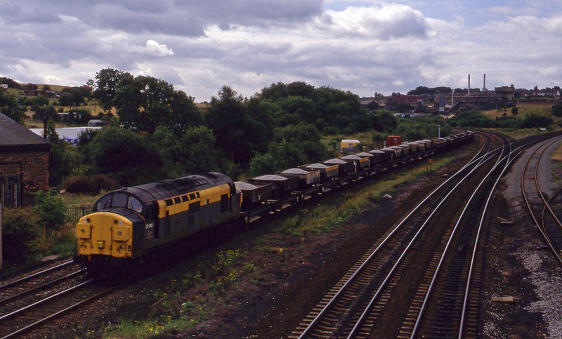 37049, down ballast, Clay Cross, near Chesterfield, 28-7-93.