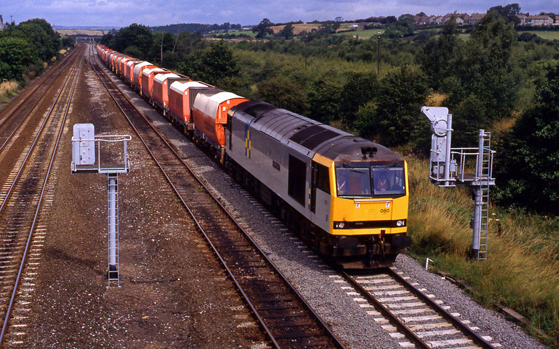 60080, up stone, Clay Cross, near Chesterfield, 28-7-93.