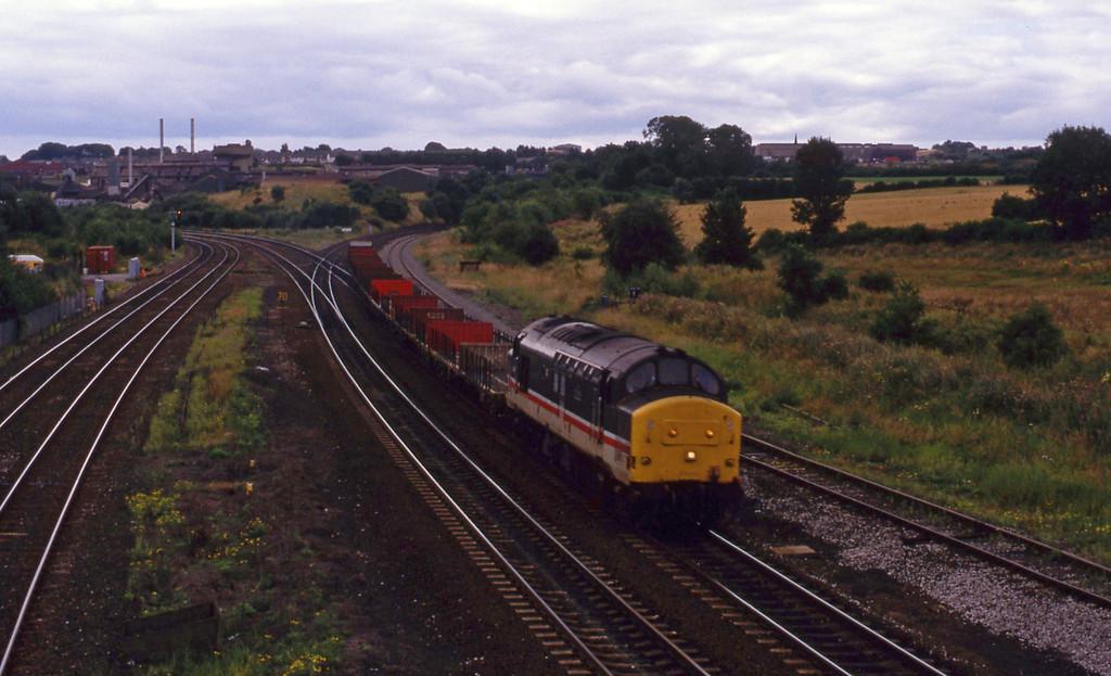 37415, down steel, Clay Cross, near Chesterfield, 28-7-93.