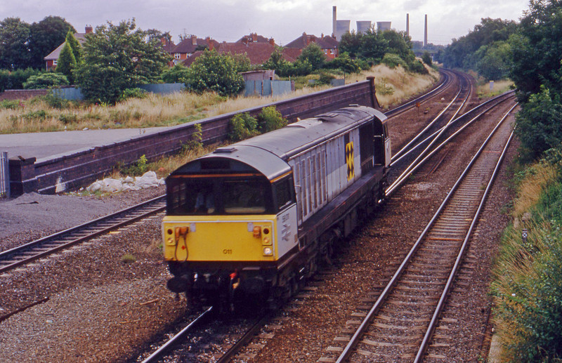 58011, up light, Water Orton, 28-7-93.