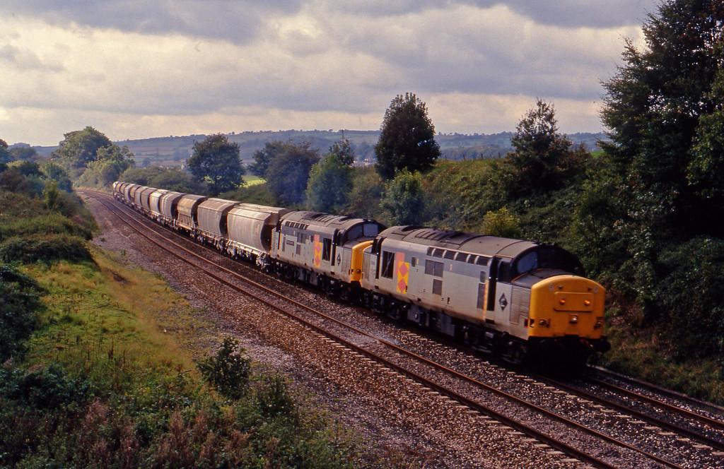 37669/37675, Burngullow-Irvine, Whiteball, 2-10-93.