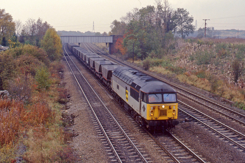 56077, down mgr empties, Monk Fryston, 27-10-93.
