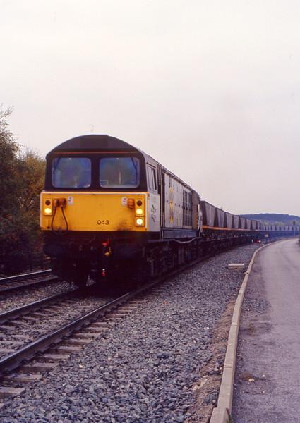 58043, mgr, departing Gascoigne Wood, 27-10-93.