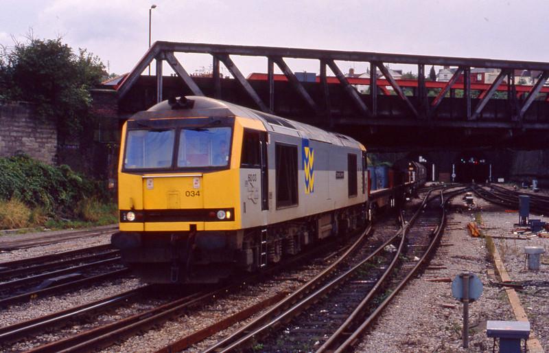 60034, up steel, Newport, 29-9-93.