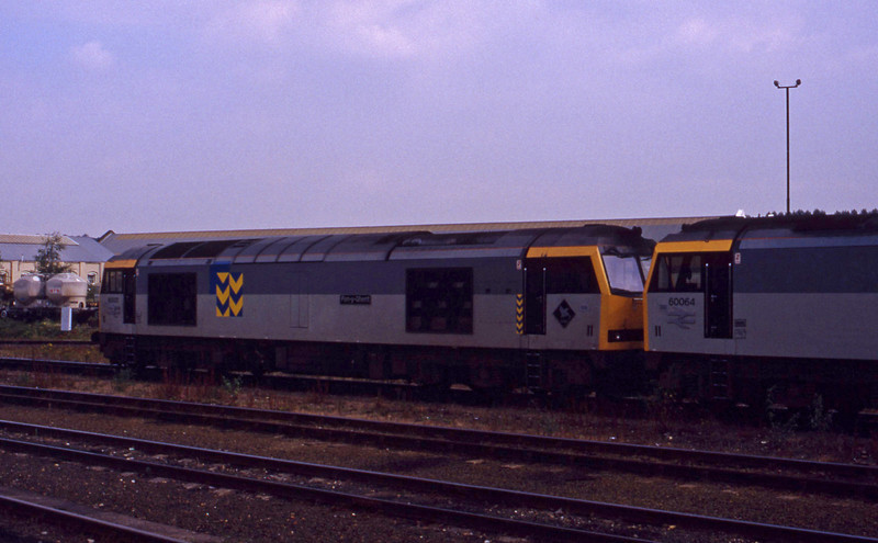 60021/60064, stabled, Eastleigh, 2-9-93.