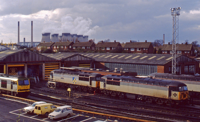 56051/56081/60051, stabled, Knottingley, 6-4-94.