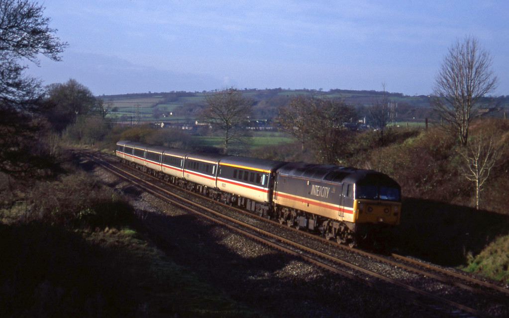 47818, 10.44 Plymouth-Manchester Piccadilly, Whiteball, 6-12-94.