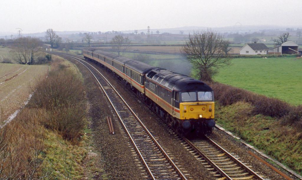 47805, up passenger, Willand, near Tiverton, 26-2-94.