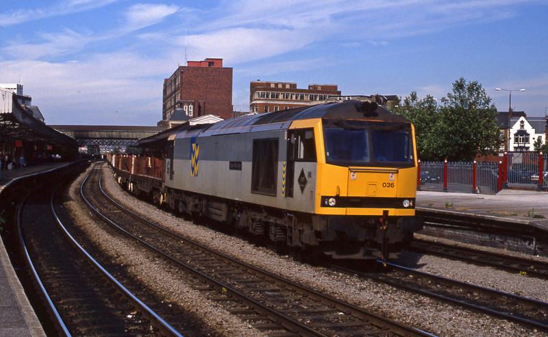60036, down steel empties, Newport, 14-7-94.