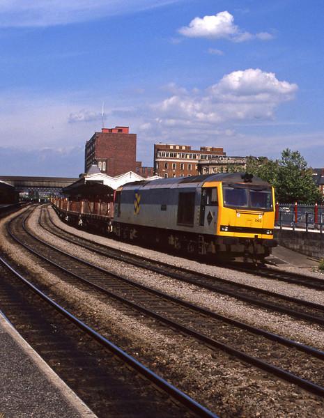60093, down steel empties, Newport, 14-7-94.