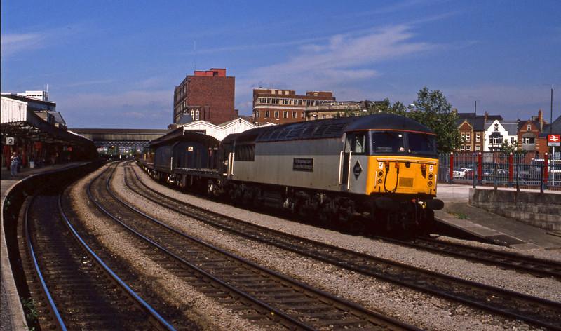 56053, down steel empties, Newport, 14-7-94.