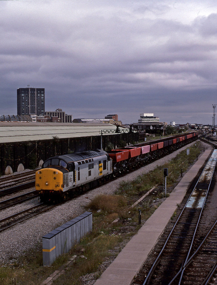 37704, down cripples, passing Cardiff Canton TMD, 18-8-94.