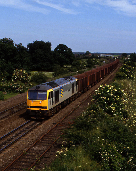 60026, westbound ore empties, Melton Ross, 23-6-94.