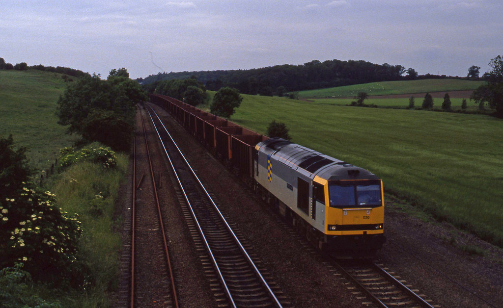 60026, eastbound ore, Melton Ross, 23-6-94.