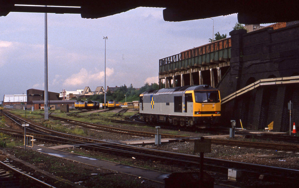 60011, down light from mpd, Leicester, 2-6-94.