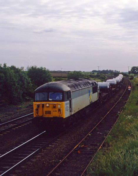 56035, westbound steel, Melton Ross, 23-4-94.