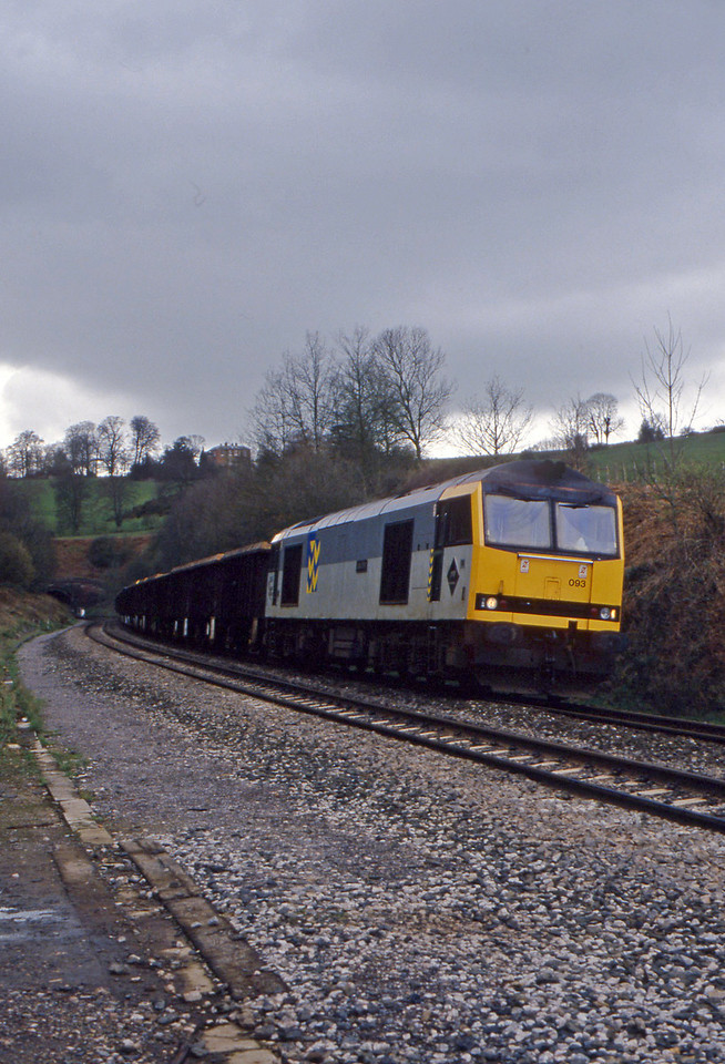 60093, Exeter Alphington Road-Cardiff Tidal, Marlands, near Wellington, 12-3-94.