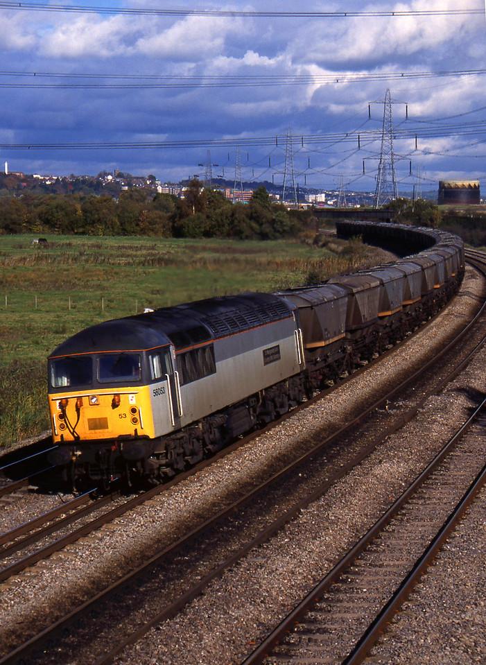 56053, down mgr empties, Duffryn, near Newport, 26-10-94.