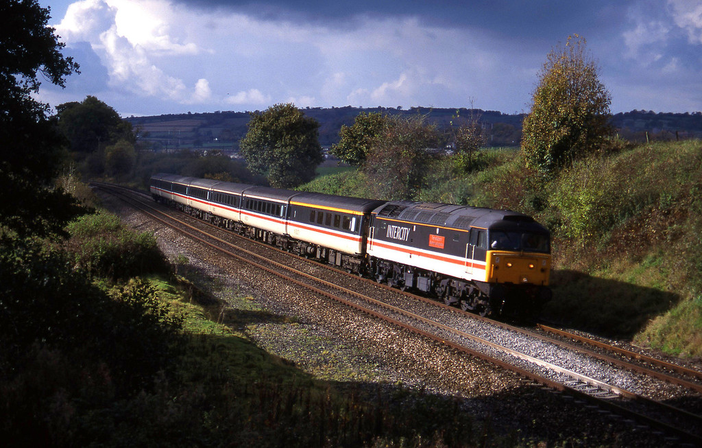 47841, 10.44 Plymouth-Manchester Piccadilly, Whiteball, 25-10-94.